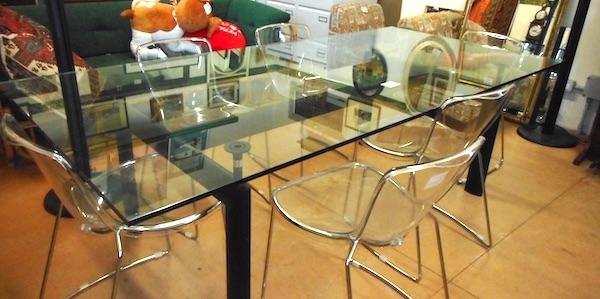 Tavolo Di Cristallo Mobili Usati Usato D Autore