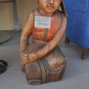 Statua di legno Rosa India